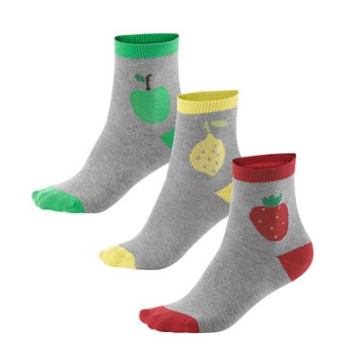 Lot de 3 paires de chaussettes fruits pour enfant - Living Crafts