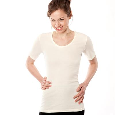 42b39d23880 T-Shirt basic femme coton bio manches courtes living crafts