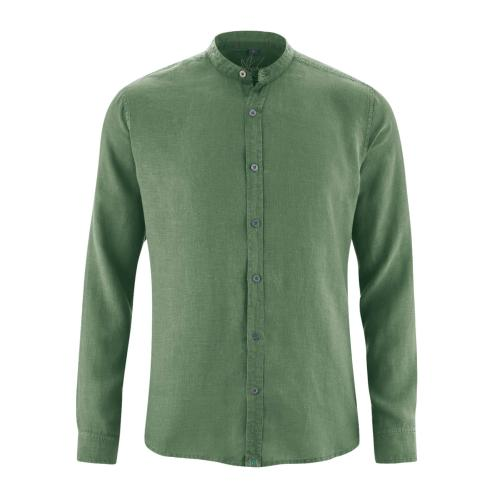Chemise col mao homme 100% chanvre - HempAge