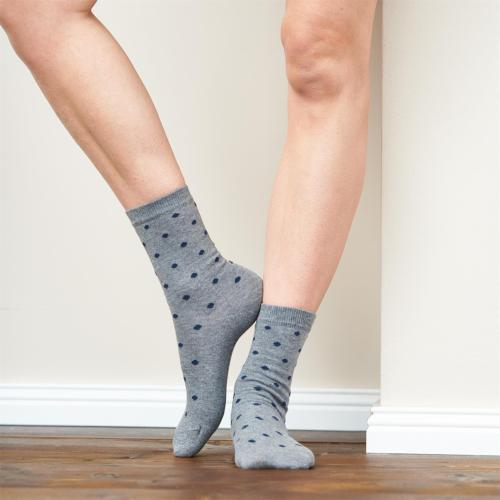 Duo de chaussettes femme en coton et elasthanne -Bettina Living Crafts