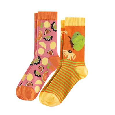 Duo Chaussettes Papillons/Fruits